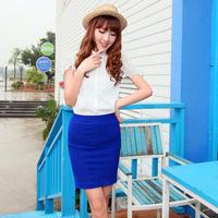 2014 Women's new summer spring pleated skirt high waist mini bust above women's fashion short loose-fitting skirt hot 16 colors