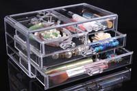 Free Shipping Acrylic Cosmetic Organizer Drawer Makeup Case Storage Insert Holder Box 24cm*13.5cm*11cm