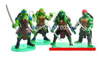 TMNT Teenage Mutant Ninja Turtles Action toy Figure Dolls 10cm Anime toys 4 pcs/lot cartoon toys Gift