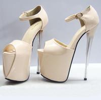 New Arrival women sexy open toe ultra high heels 19 cm black red bottom platform pumps summer high-heeled sandals 2015
