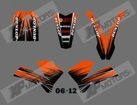 new style (0556 ORANGE AND BLACK )TEAM GRAPHICS&BACKGROUNDS DECALS STICKERS Kits for KTM SX85 2006 2007 2008 2009 2010 2011 2012