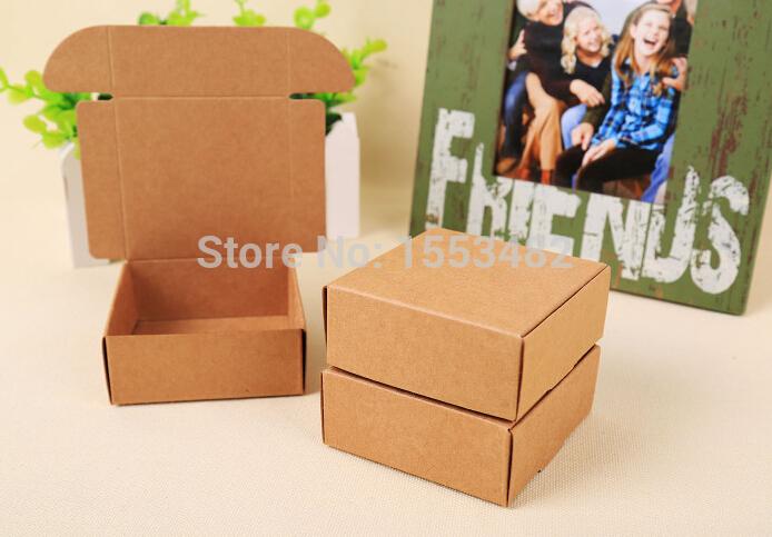 8.5*6.2*2.2 cm Candy cardboard box handmade soap box brown kraft papergift packaging paper boxes Free Shipping(China (Mainland))