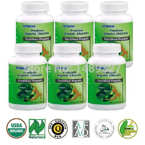 Taiwan Organic Chlorella Tablet- 500mg*6bottles- Vitamins/ Minerals/ Amino Acids/ Chlorophyll/ Detoxification/ Digestion(Taiwan)