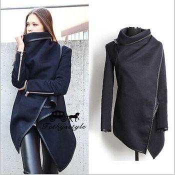 2014 осень зима шерстяные пальто женщин пальто темперамент тонкий плащ Desigual feМиниnos ...