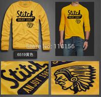 Plus Size Men's T Shirt Fashion 2014 Autumn Winter Cotton T-Shirt Casual Slim Long-Sleeve Brand New Tshirt Camisetas AJL