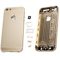 High Quality New Replacement Battery Cover Back Case Housing Shell Door + SIM Card Tray + Logo Buttons For Apple iPhone 5 5S