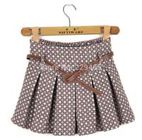 Elastic Korean woolen skirt winter female backing fluffy pleated skirt 2014 new winter women skirt women short skirt with belt