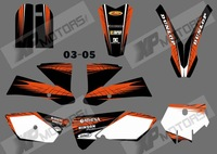 0521 MONSTER  NEW STYLE (Orange & Black)TEAM GRAPHICS&BACKGROUNDS DECALS STICKERS Kits for KTM SX85 2003-2005