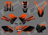 New (ORANGE & BLACK 0556) TEAM GRAPHICS & BACKGROUNDS DECALS FOR KTM SX85 SX 85 2006 2007 2008 2009 2010 2011 2012