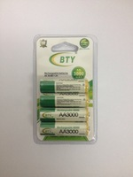 free shipping 24pcs/lot BTY AA 3000mAh Rechargeable R6 R06 LR6 LR06 NiMh BTY 1.2V Battery Accu