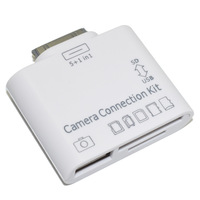Free Shipping 5 in1 USB Camera Connection Kit USD TF M2 Card Reader Adapter for iPad 1/2