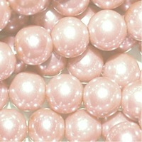 200 pieces 10mm Glass Pearl Round Beads - Pale Pink  H1313