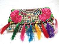 New National Hmong Handmade Embroidered bags Vintage women shoulder messenger bags Ethnic small Embroidery Cover handbags