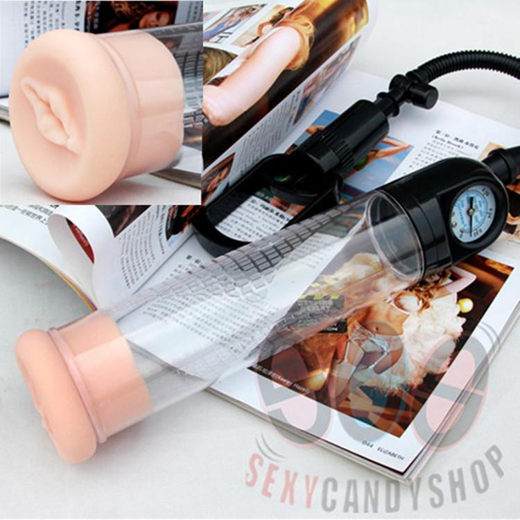2015New Sex Toys For Men,Pressure Gauge Vacuum Penis Pump,Enlargement Extension,Erection Extender,Masturbation Gift: Penis Ring(China (Mainland))