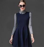 2013 Women's Elegant Hot Sale Korean Sweet Skinny Fashion Dress Color Matching All-match Ladies Dress