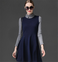 2013 Women's Elegant Hot Sale Korean Sweet Skinny Fashion Dress Color Matching All-match Ladies Dress