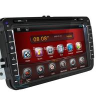 2 DIN Pure Android 4.2.2 Car Audio DVD GPS Sat Nav For VW Jetta Golf Passat POLO 3G WiFi Radio DVR BT Free 8GB Map Card 1GB DDR3