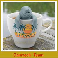 1000Pcs DHL/Fedex Manatea Infuser Manatee Mana Tea Strainers OPP Package Manatea Infuser Hot Selling