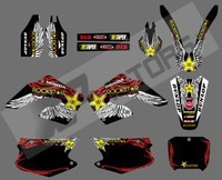 0558 (RED ROCK STAR )NEW STYLE TEAM  DECALS STICKERS GraphicS For HONDA CR125 CR250 2000 2001