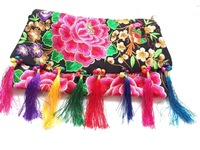 vintage women's national handbag embroidery bag ethnic floral crossbody canvas embroidered shoulder messenger bag