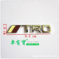 TRD metal car sticker 3D fashion personality TRD sticker new car modification car decoration