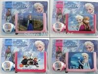 300pcs/lot Free Shipping Via DHL! Fashion Cartoon Princess Elsa And Anna Girls projection watch set G056 on sale wholesale