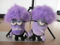 2 Pcs/Lot Despicable Me 2 Plush Stuffed Minion Evil Purple Toys 10 Inch High Quality Brinquedos Minions Pelucia Gifts For Kids