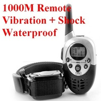 1000M Rechargeable LCD REMOTE PET DOG TRAINING COLLAR ELECTRIC LARGE DOG CONTROL