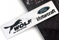 1PCS WOLF Luxury  Car Chrome 3D Badge Emblem Sticker  Fender Grille Bumper Trail Boot Trunk  Aluminium Alloy