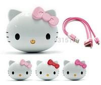 Hello kitty Power Bank Cartoon Cute 8800mAh Hello kitty PowerBank USB External Universal Battery Charger 50pcs/lot