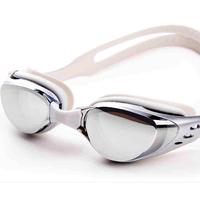 Free Shipping Anti-Fog Mirrored Adjustable Eyeglasses Men Women Unisex Coating Swimming Glasses Adult Goggles