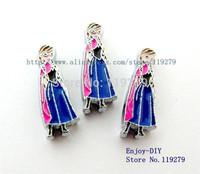 50pc 8mm  Anna DIY accessory fit wristband pet collar key chain
