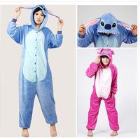 1PCS Flannel Hooded Pajamas Cosplay Cartoon Cute Animal Onesies Sleepwear Suit Nightclothes