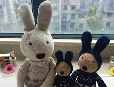 Free Shipping 90cm Soft Bunny Rabbit Stuffed Animal Plush Toy Rabbit Doll Girls Couple Lover's Valentine's Day Gift Classic Gift(China (Mainland))