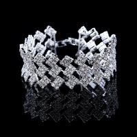 Luxury Wedding Bracelets & Bangles 18K Gold/Silver Plated Chain Austrian Crystal Fashion Women Wrap Jewelry DDRB0020