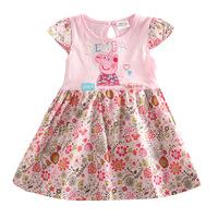 Pepe the pig peppa pig 2014 new summer cotton flower girl dress