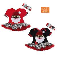 2014 new Baby Girls Christmas dress Kids Santa Claus One-piece Tutu Dress child's clothes free shipping