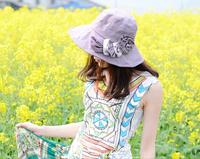 1 piece hot sale Women Foldable Wide Large Brim Floppy Summer Beach Sun Straw Hat Cap 5 colour