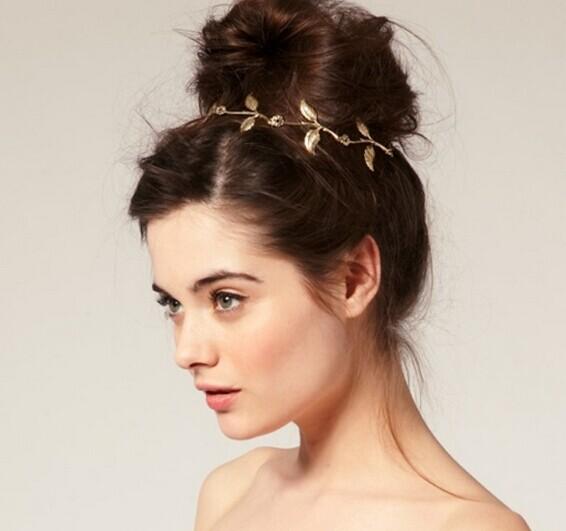 New Fashion Women/Girl's Head wear leaf headbands cool gifts free shipping H321(China (Mainland))