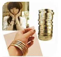 Bracelets Fashion jewelry popular fashion for women vinage bronze wishing Bangle