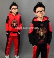 Spider-man Clothing set spiderman children sport suit sweatshirt boys hoodies pants kids hooded jacket spring autumn clothes