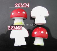 Flatback Mushroom Half shape 20pcs/lot scrapbooking buttons decorative wood button