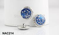 10pcs/lot 20mm button Enamel rhinestone Star Button Interchangeable Ginger Snaps Jewelry for women NAC214
