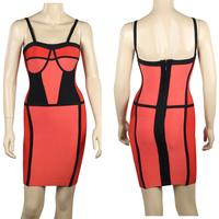 2015 Spring New Arrival Spaghetti Strap Celebrity HL Bandage Dress Formal Evening Dresses