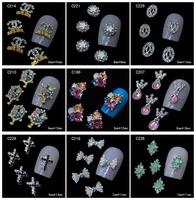 100Pcs/Lot Fashion 3D Metal Nail Art Decoration / Cellphone Rhinestone Glitters Decoration, 26 Styles For Choose + Free Shipping