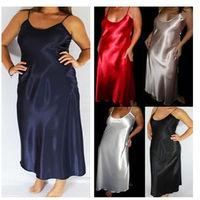 5 Color Lady Sexy Lingerie Cotton Nigthwear Dress+G String Babydoll Robe Hot big large size XXL XL L M S gown women vestidos