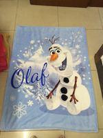 DHL Free shipping Frozen Olaf Blanket 100*130cm Baby Bedding Mat Snowman Olaf Fleece Blanket