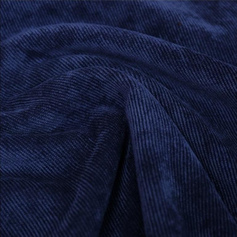 Blue corduroy pants custom tailored - 100% cotton dark blue - Classic style for men - Men's custom made clothing designer(China (Mainland))