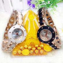 Fashion Jewelry Quartz Women diamond ceramic Strap watches Wristwatch