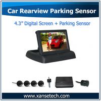 Car Park Sensor Sound System with 4.3inch Backup Parking Sensor Color LCD and Camera